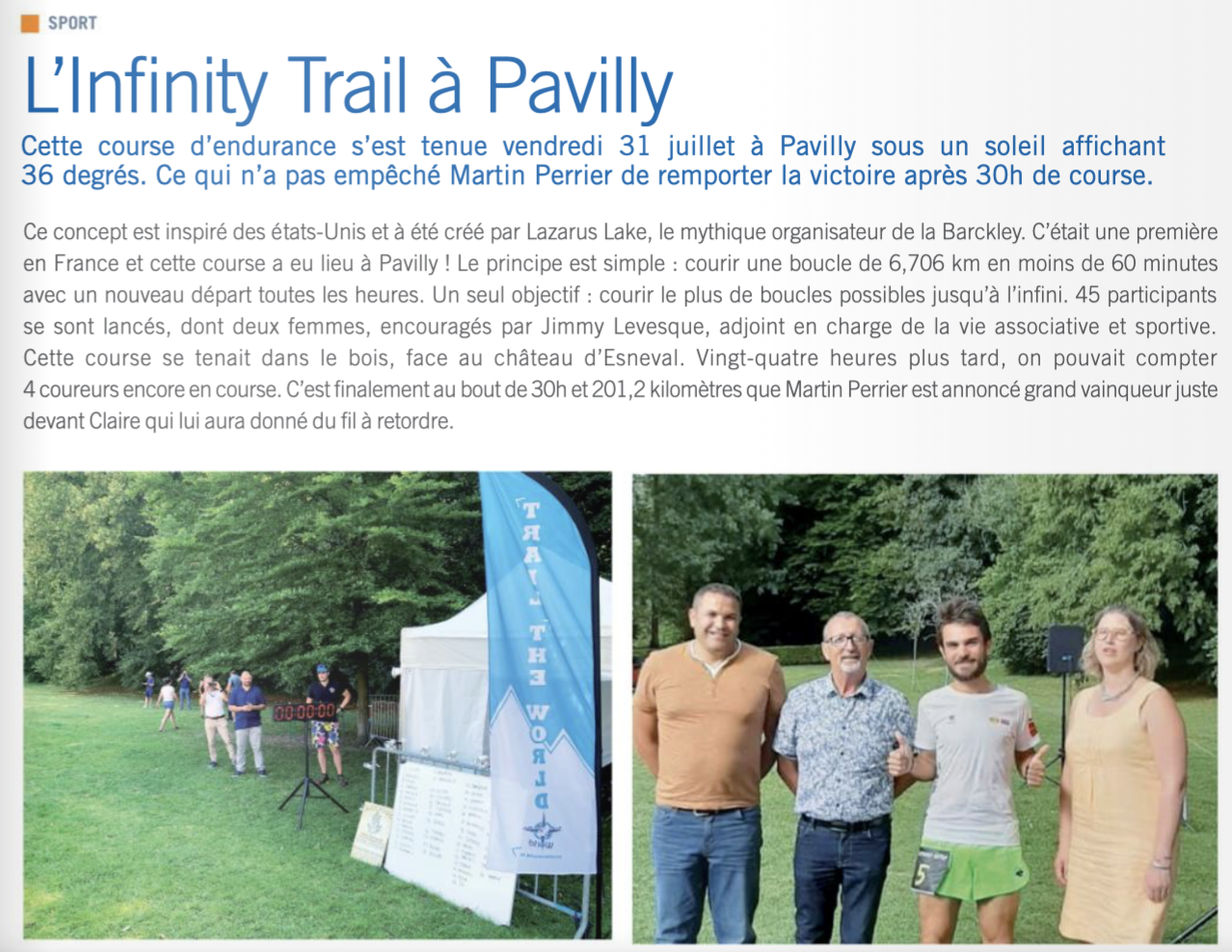 Infinity Trail Pavilly